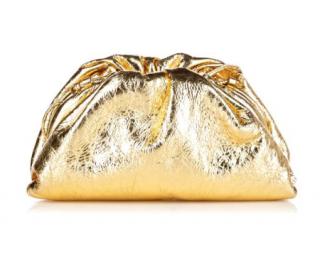 Bottega Veneta Metallic Gold The Pouch 20