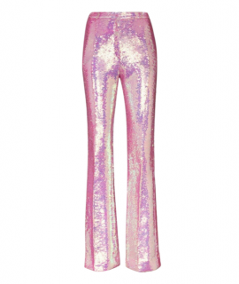 Paco Rabanne Pink Sequin High Waisted Pants