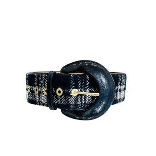 Elisabetta Franchi Wide Tweed Belt