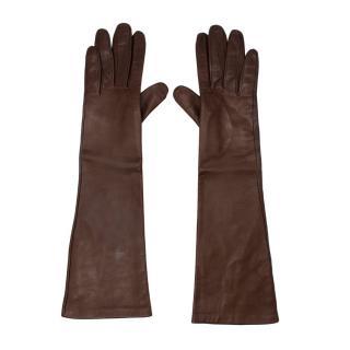 Madova Walnut Nappa Leather Long Gloves