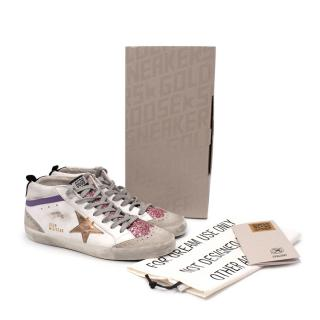 Golden Goose Mid Star Logo-Patch Sneakers