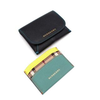 Burberry Multicolour Leather Card Holder & Black Coin Purse