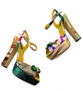 Dolce & Gabbana Patchwork Brocade Sandals