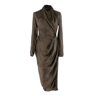 Rick Owens Sisyphus Satin Wrap Dress