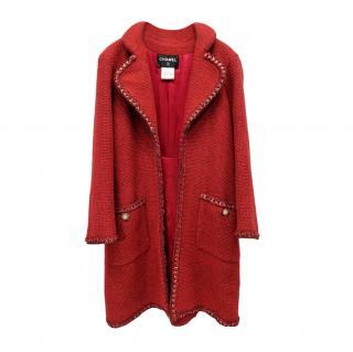 Chanel Red Paris/Salzburg Tweed Coat