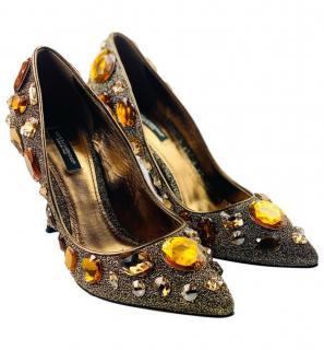 Dolce & Gabbana Jewelled Lurex Pumps