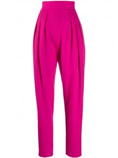 The Attico fuchsia high-waisted tapered trousers