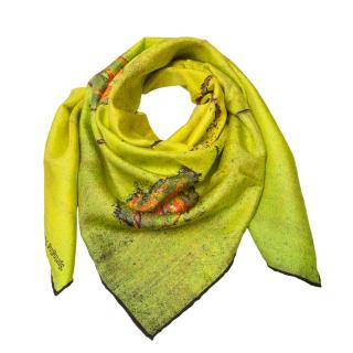 Rosemary Goodenough Lime Springing Tulips XIX Scarf