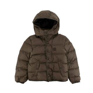 Louis Vuitton Kids Khaki Hooded Puffer Jacket