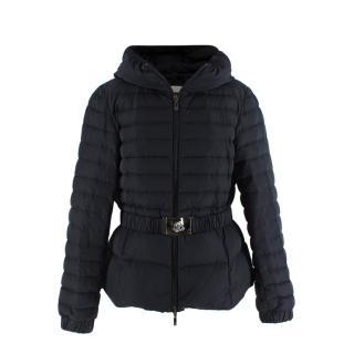 Moncler Belted Down Hooded Jacket