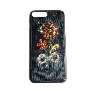 Dolce & Gabbana iPhone 7/8+ Embellished Phone Case