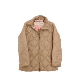 Burberry Brit Beige Puffer Coat