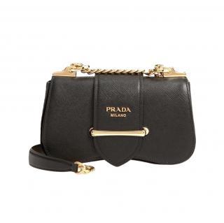 Prada Sidonie Saffiano Leather Shoulder Bag