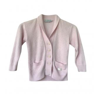 Dior Kids 6Y Pink Cannage Cardigan