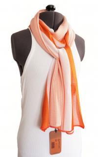 Missoni Orange & White Long Knit Scarf