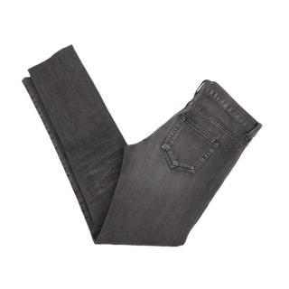 Saint Laurent Grey Denim Skinny Jeans