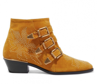 Chloe Susanna buckled studded suede ankle boots