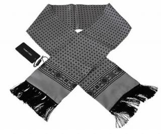 Dolce & Gabbana Mens Baroque Silver Scarf