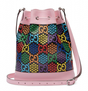 Gucci Pink GG Psychedelic Print Bucket Bag