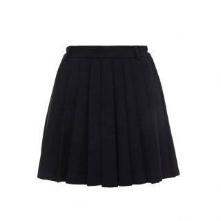 REDValentino Black Pleated Skirt