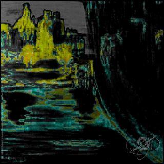 Rosemary Goodenough River Through a Curtain V Silk Pocket Square