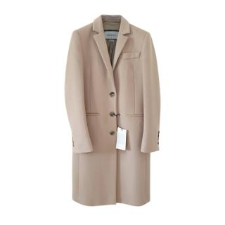 Gucci Beige Virgin Wool Single Breasted Coat