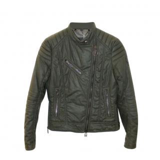 Belstaff Green Outlaw Waxed Biker Jacket