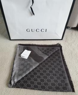 Gucci Monogram Reversible Wool & Silk Scarf