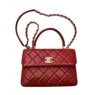 Chanel Small Red Leather Trendy CC bag