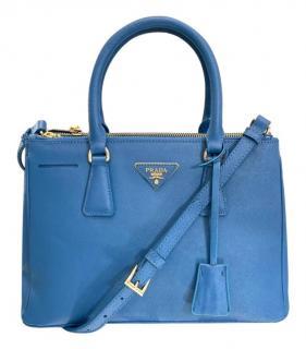 Prada Blue Galleria Saffiano Leather Bag