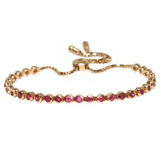 Casidy 18ct Rose Gold Ruby Tennis Bracelet