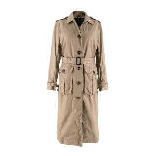 Burberry Prorsum Camel Belted Trench Coat