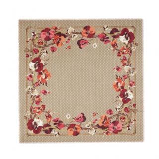 Gucci GG Supreme Obishana Flowers Virgin Wool Scarf