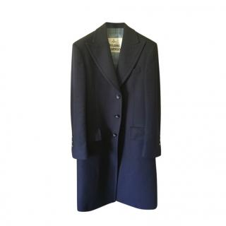 Vivienne Westwood Navy Virgin Wool Castle Coat