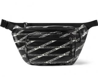 Balenciaga Explorer Logo-Print Leather Belt Bag