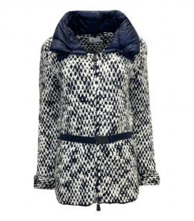 Moncler Grenoble Tweed Belted Puffer Coat