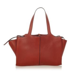 Celine Medium Trifold Leather Tote Bag
