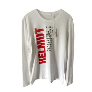 Helmut Lang Worldwide Print Long Sleeve Top