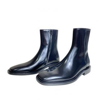 Balenciaga Square Toe Black Ankle Boots