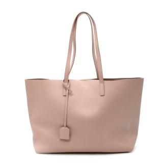 Saint Laurent pink shopping leather tote bag