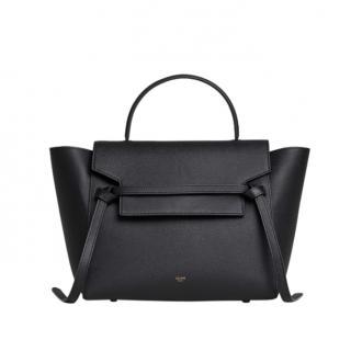 Celine Black Grained Calfskin Mini Belt Bag