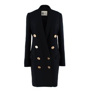 Lanvin Black Double Breasted Anniversary Tailored Coat
