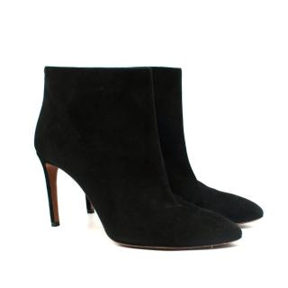 Alaia Black Suede Heeled Ankle Boots