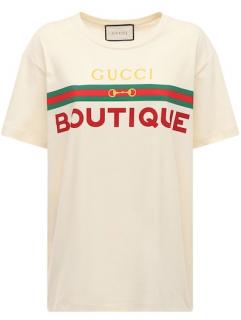 Gucci Off White Boutique Print T-Shirt