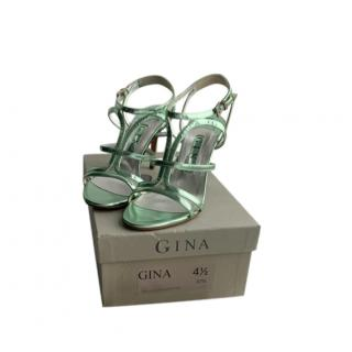 Gina green metallic scrappy sandals