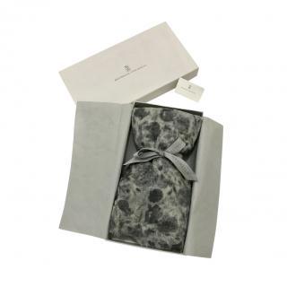 Brunello Cucinelli Cashmere Grey printed Scarf