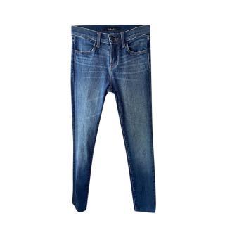 J Brand Blue Skinny Low Rise Jeans