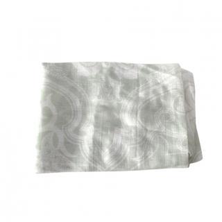 Max Mara paisley print Pale Green Scarf
