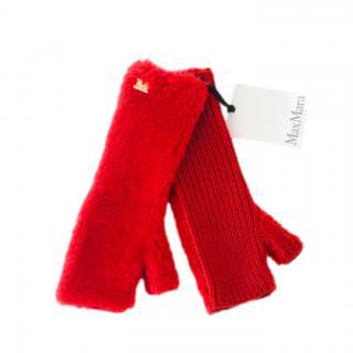 Max Mara Wool & Alpaca Knit Fingerless Gloves