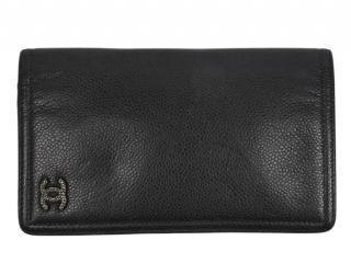 Chanel Grey Leather Bi-Fold Wallet